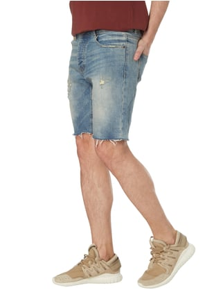 REVIEW Jeansbermudas im Destroyed Look Blau - 1