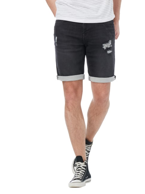 REVIEW Jeansbermudas im Destroyed Look Stein - 1