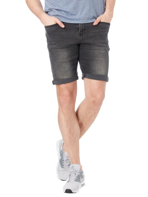 REVIEW Jeansbermudas im Used Look Dunkelgrau - 1