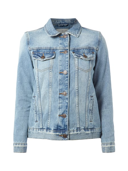 new product 0c02c bc163 REVIEW Jeansjacke im Used Look in Blau / Türkis online ...