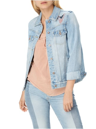 REVIEW Jeansjacke mit Flamingo-Stickereien Jeans - 1
