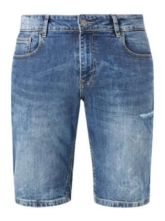 Jeansshorts im Destroyed Look Blau / Türkis - 1