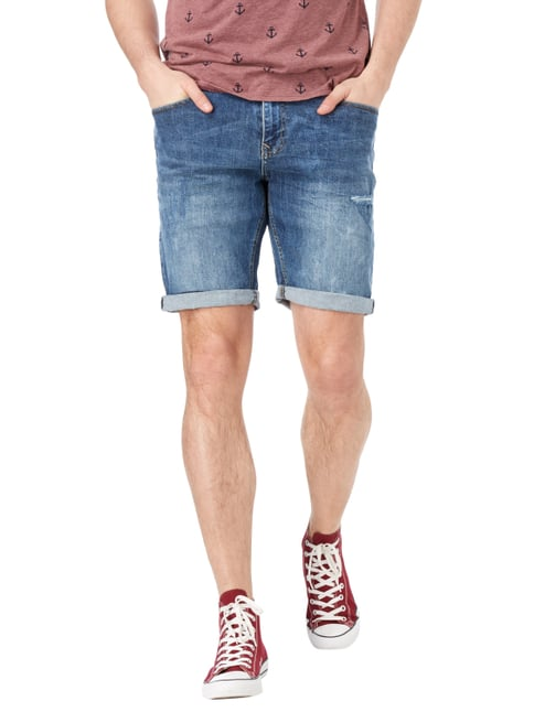 REVIEW Jeansshorts im Destroyed Look Blau - 1