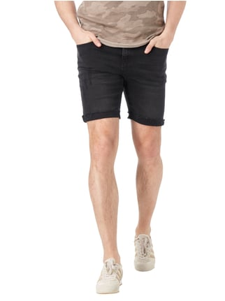 REVIEW Jeansshorts im Destroyed Look Schwarz - 1