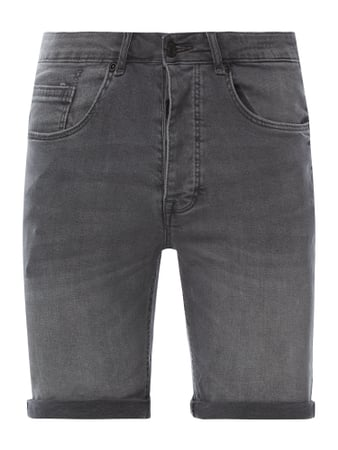 REVIEW Jeansshorts mit Stretch-Anteil Grau - 1