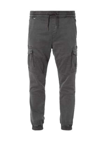 REVIEW Jogpants im Biker-Look Anthrazit