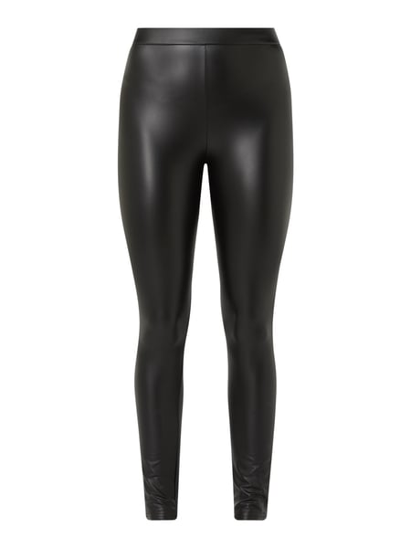 REVIEW Leggings in Leder-Optik Schwarz - 1