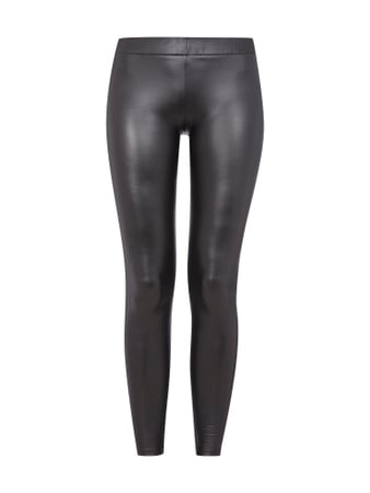Leggings in Leder-Optik Grau / Schwarz - 1