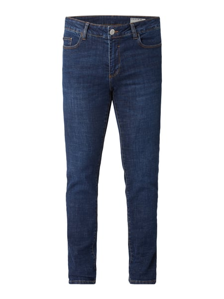 REVIEW Light Stone Washed Skinny Fit Jeans Blau - 1