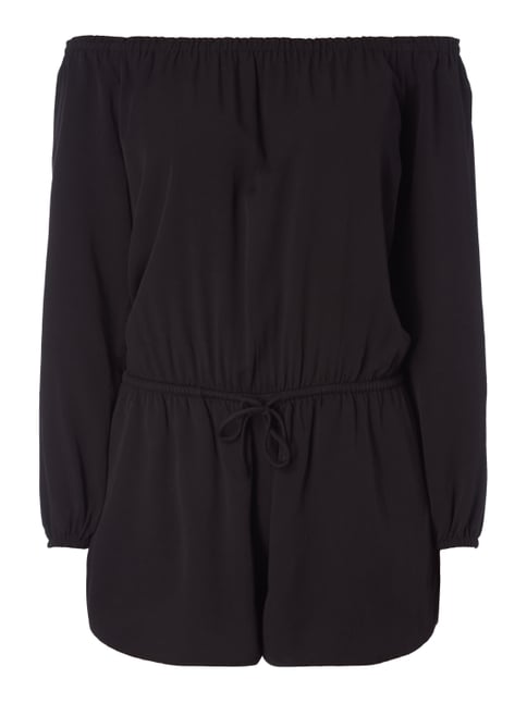 Off Shoulder Playsuit aus Viskose Grau / Schwarz - 1