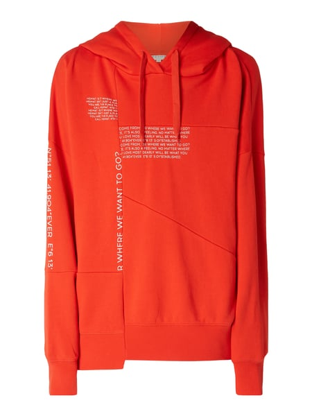 REVIEW Oversized Hoodie mit Message-Prints Rot - 1