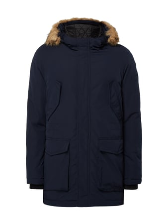 REVIEW Parka mit Fake Fur Blau / Türkis - 1