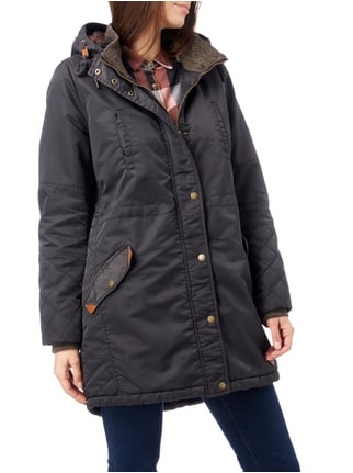 REVIEW Parka mit Teddyfutter Anthrazit - 1