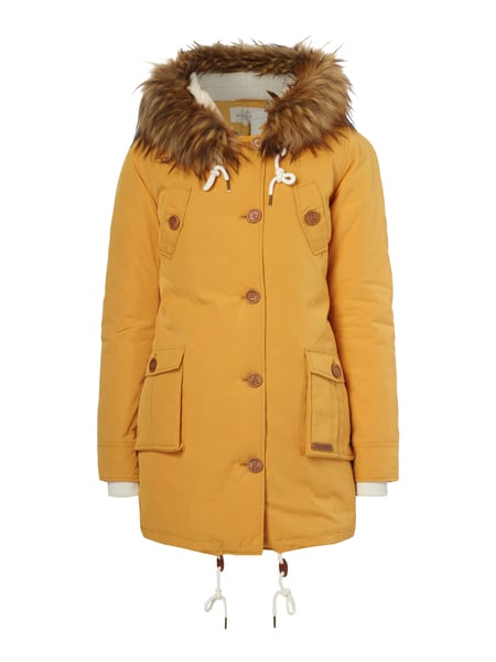 check out 4e6aa 9ac89 REVIEW – Parka mit Teddyfutter – Gelb