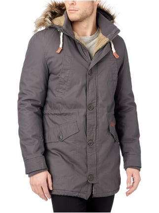 REVIEW Parka mit Webpelz Anthrazit - 1