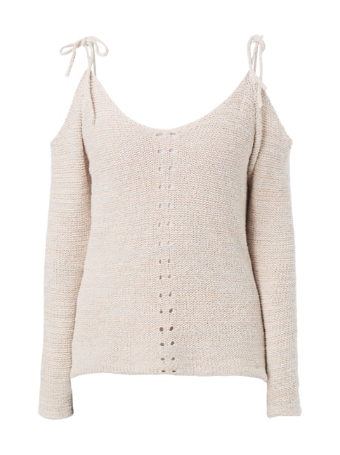 Pullover mit Cut Outs Rosé - 1