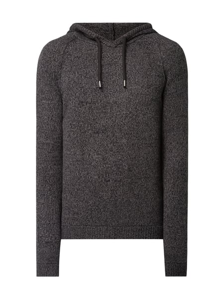 REVIEW Pullover mit Kapuze - meliert Anthrazit