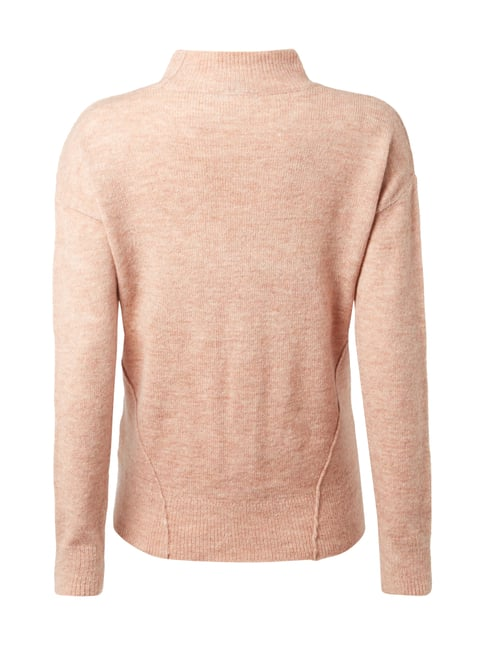 REVIEW Pullover mit Turtleneck Rosé meliert - 1