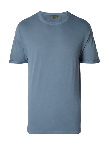 REVIEW Relaxed Fit T-Shirt aus Baumwolle Hellblau
