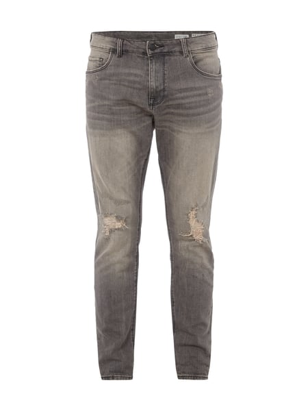 REVIEW Relaxed Skinny Fit 5-Pocket-Jeans Grau - 1