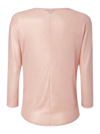 REVIEW Shirt in Metallicoptik Rosa - 1