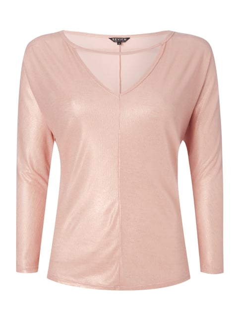 Shirt in Metallicoptik Rosé - 1