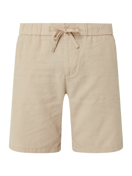 REVIEW Shorts aus Leinenmischung Beige - 1