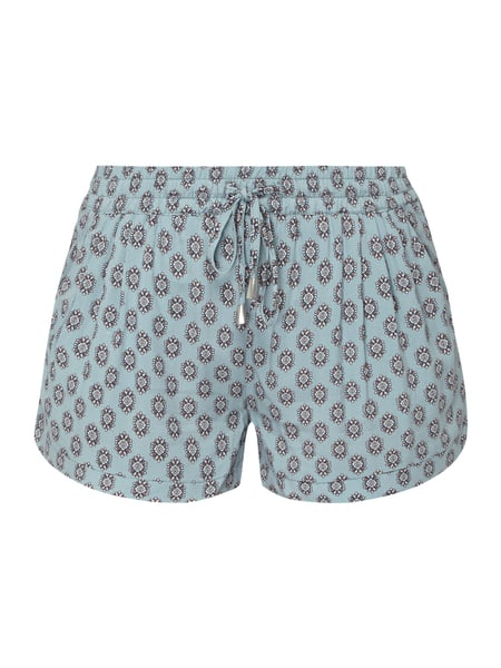 REVIEW Shorts aus reiner Viskose Blau - 1