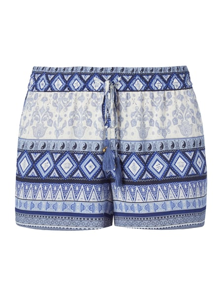 REVIEW Shorts mit Allover-Muster Blau