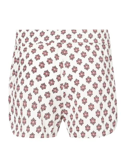 REVIEW Shorts mit Allover-Muster Bordeaux Rot - 1