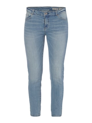Skinny Fit 5-Pocket-Jeans im Light Used Look Blau / Türkis - 1