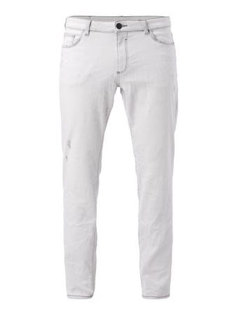 Skinny Fit 5-Pocket-Jeans im Used Look Weiß - 1