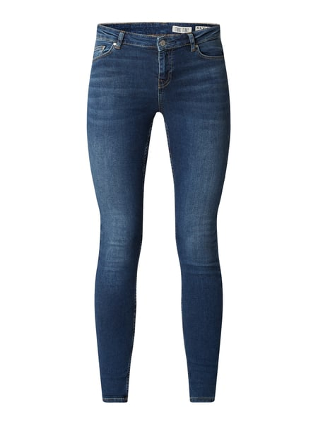 REVIEW Stone Washed Skinny Fit Jeans Blau - 1