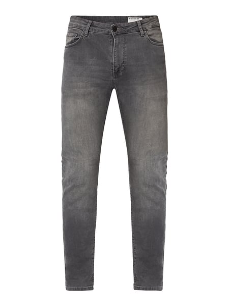 REVIEW Skinny Fit Jeans mit Stretch-Anteil Grau - 1
