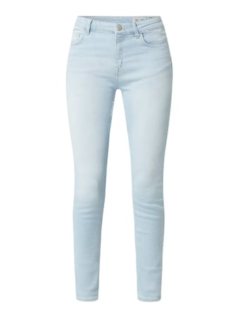 REVIEW Skinny Fit Jeans mit Stretch-Anteil Modell 'Minnie' Blau - 1