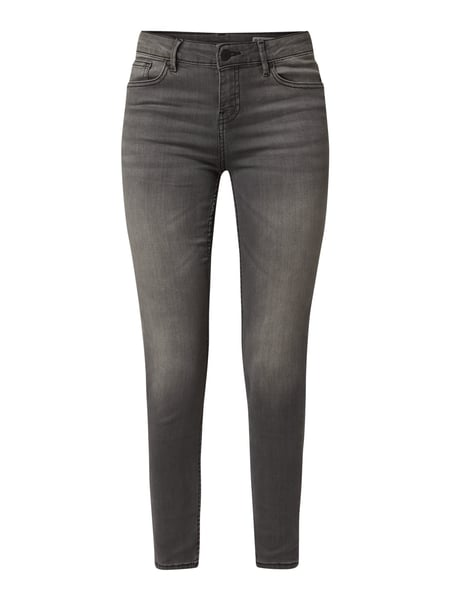 REVIEW Skinny Fit Jeans mit Stretch-Anteil Modell 'Push up' Grau - 1