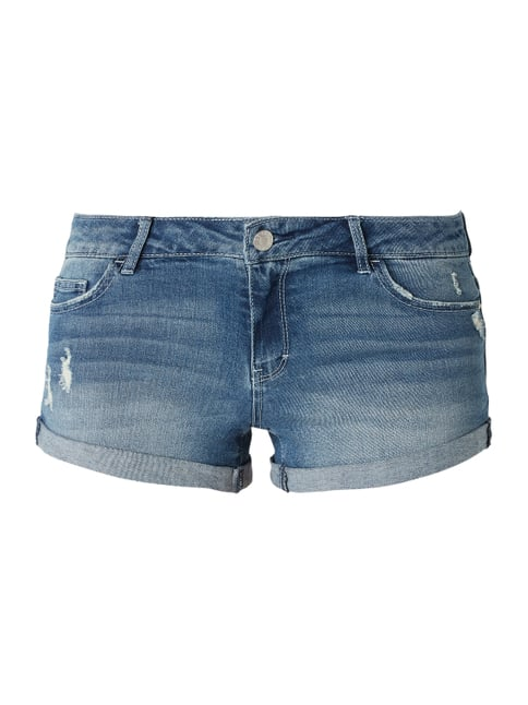 31772ada1a REVIEW Skinny Fit Jeansshorts mit Stretch-Anteil Blau - 1 ...