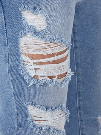 Skinny Jeans im Destroyed Look REVIEW online kaufen - 1