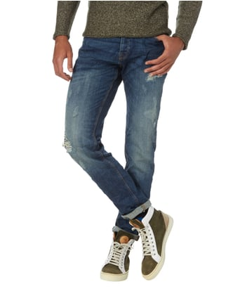 REVIEW Slim Fit Jeans im Destroyed Look Jeans - 1