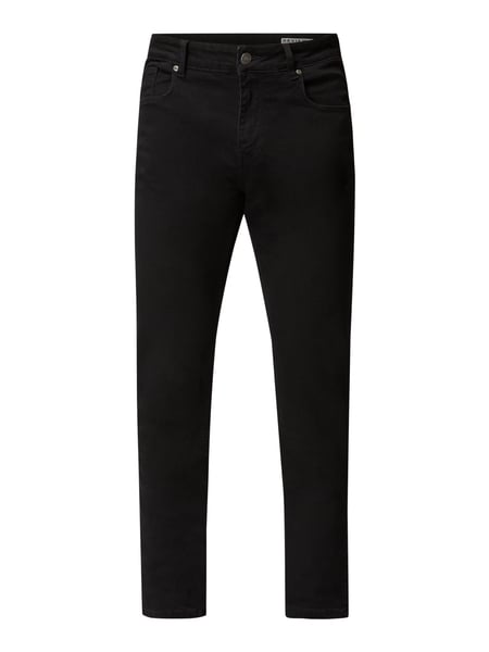REVIEW Slim fit jeans met stretch Zwart - 1