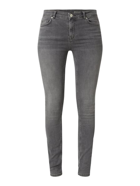 REVIEW Stone Washed Skinny Fit Jeans Grau - 1