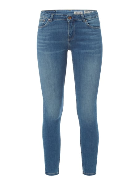 REVIEW Stone Washed Skinny Fit Jeans Blau