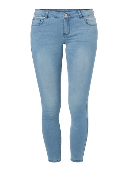 REVIEW Stone Washed Skinny Fit Jeans Hellblau