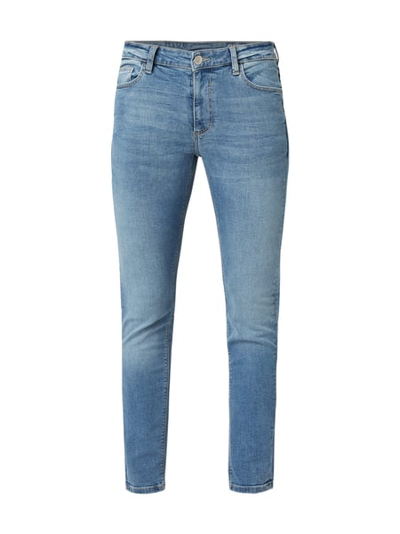 REVIEW Stone Washed Skinny Fit Jeans Blau / Türkis - 1