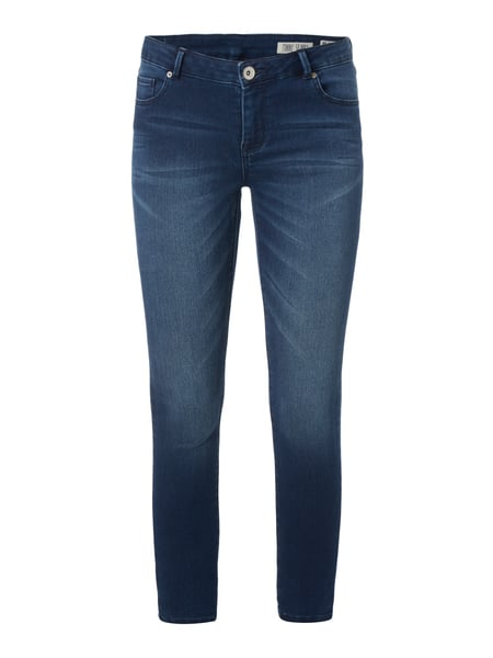 REVIEW Stone Washed Skinny Fit Jeans Marineblau