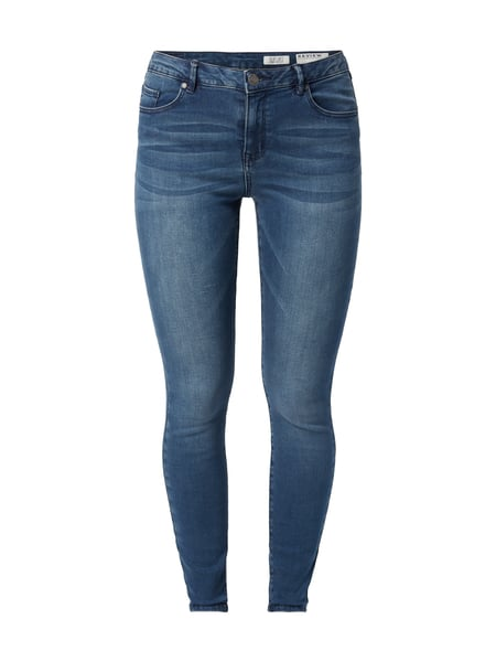 REVIEW Stone Washed Skinny Fit Jeans Rauchblau