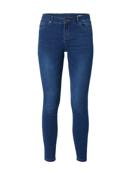 REVIEW Stone Washed Skinny Fit Jeans Royalblau