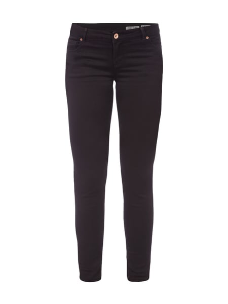 REVIEW Skinny Fit Jeans mit Stretch-Anteil Schwarz
