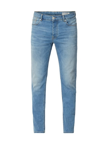 REVIEW Stone Washed Slim Fit Jeans Blau / Türkis - 1