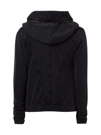 REVIEW Sweatjacke im Washed Out Look Anthrazit - 1